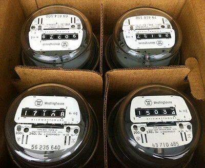 Electric Watthour Meter Kwh E-z Read Cyclone 240v 200a Residential Lot Of 4