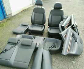 VAUXHALL VECTRA C COMPLETE HALF LEATHER INTERIOR INCLUDING DOOR CARDS
