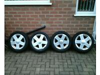 Ford fiesta mk6 alloy wheels with tyres