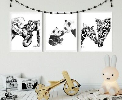 Mother and Baby Animal Prints, Nursery Prints, Baby Shower, Motherhood Art, Cute for sale  Shipping to Ireland