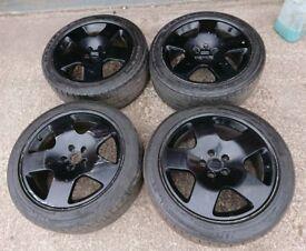 """Genuine OEM Audi fat 5 17"""" 5x112 alloy wheels vw caddy golf seat skoda"""