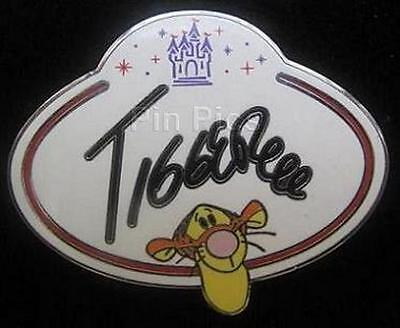 TIGGER NAME TAG HKDL Hong Kong Disneyland Mystery Collection Disney Pin 78003