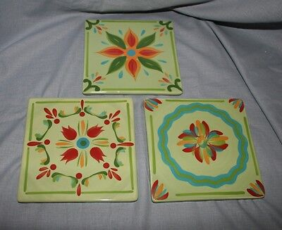 Southern Living At Home Gail Pittman Hand Painted Trivets Provence Set Of 3
