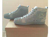 CHRISTIAN LOUBOUTIN AUTHENTIC LIGHT BLUE TRAINERS