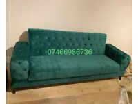 💯BRAND NEW CROWN SOFA BED WITH STORAGE AND FREE CUSHIONS