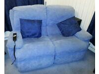 Dual Control Electric Reclining Two Seater Sofa