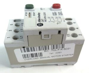 Allen bradley 140 mn 0250 protector overload manual motor for Allen bradley motor overload