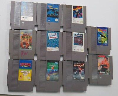 11 Nintendo Nes Games Only  Roadblasters Total Recall  Bad Dudes Pinball Loopz