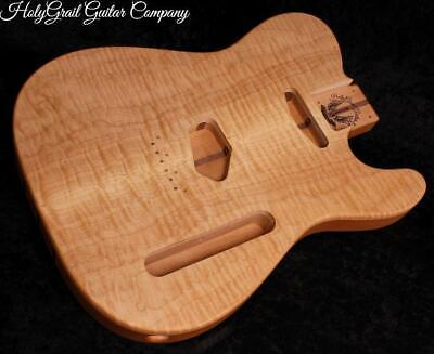 Telecaster Body • Flame Maple • Alder • Walnut / Tele Guitar Body / Pre-Order
