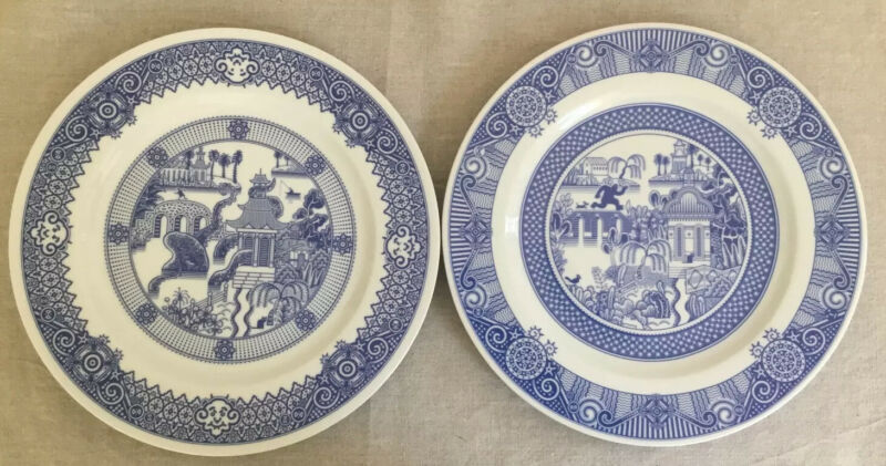 (Set of 2) CALAMITYWARE DINNER PLATES #10 & #7 Don Moyer Excellent Condition!