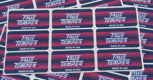 NEW 9 TRUE TEMPER GOLF CLUB SHAFT LABELS BANDS STICKERS - UNIFLEX - *AUTHENTIC*
