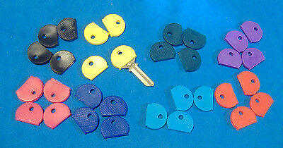 Eight Piece Cap - LOT OF 32 PIECE COLORED KEY CAP IDENTIFIERS  FOUR OF EIGHT DIFFERENT COLORS