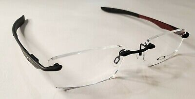 Oakley RX Eyeglasses Evade Matte Black / Red Frame 22-172 53-18-133 Authentic