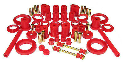 - Prothane 94-98 Ford Mustang Complete TOTAL Suspension Bushings Red Kit