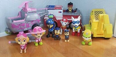 Spin Master Limited SML Paw Patrol Lot of 12 Toy Figures and Mini Vehicles Loose