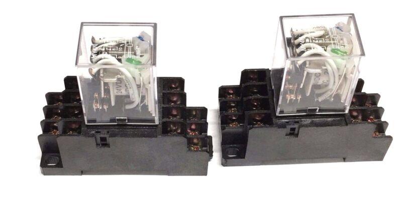 Relay MY4N-J  MY4N MY4 24V  24VDC COIL 2pcs and Socket PYF14A 2pcs