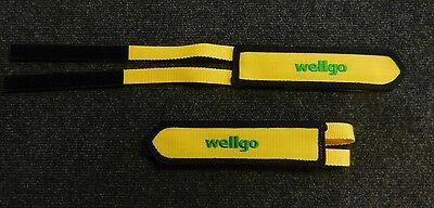 Velcro yellow nylon bicycle pedal toe straps Wellgo brand