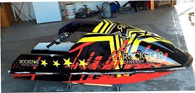 kawasaki 650 sx jet ski wrap graphics pwc stand up jetski decal kit racing star for sale  Shipping to South Africa