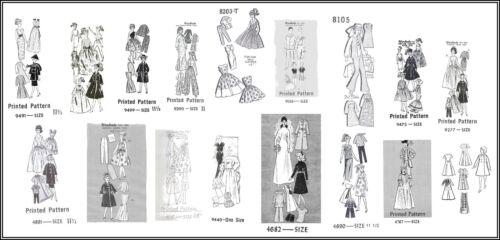 17 Mail-Newspaper Patterns on CD For Vintage Barbie