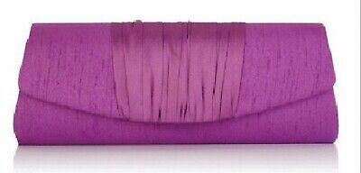 Jacques Vert Purple Iris  Clutch Evening Bag Silk RRP £65