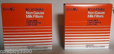 Milk Strainer Filter Strainer Disks 6-12 Inch 2 Boxes Of 100 New Kenag