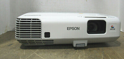 Tested Epson PowerLite 93+ H382F 3LCD XGA Projector 2600 Lumens 2938 Lamp Hours