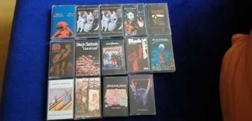 Black Sabbath cassette lot