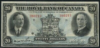 Royal Bank Of Canada  20 1927 Vf Xf  630 14 12 Hw3316