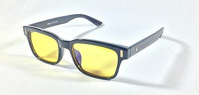 Computer Gaming Glasses Anti Blue Light Glare Eyewear Full Frame Black TV phone