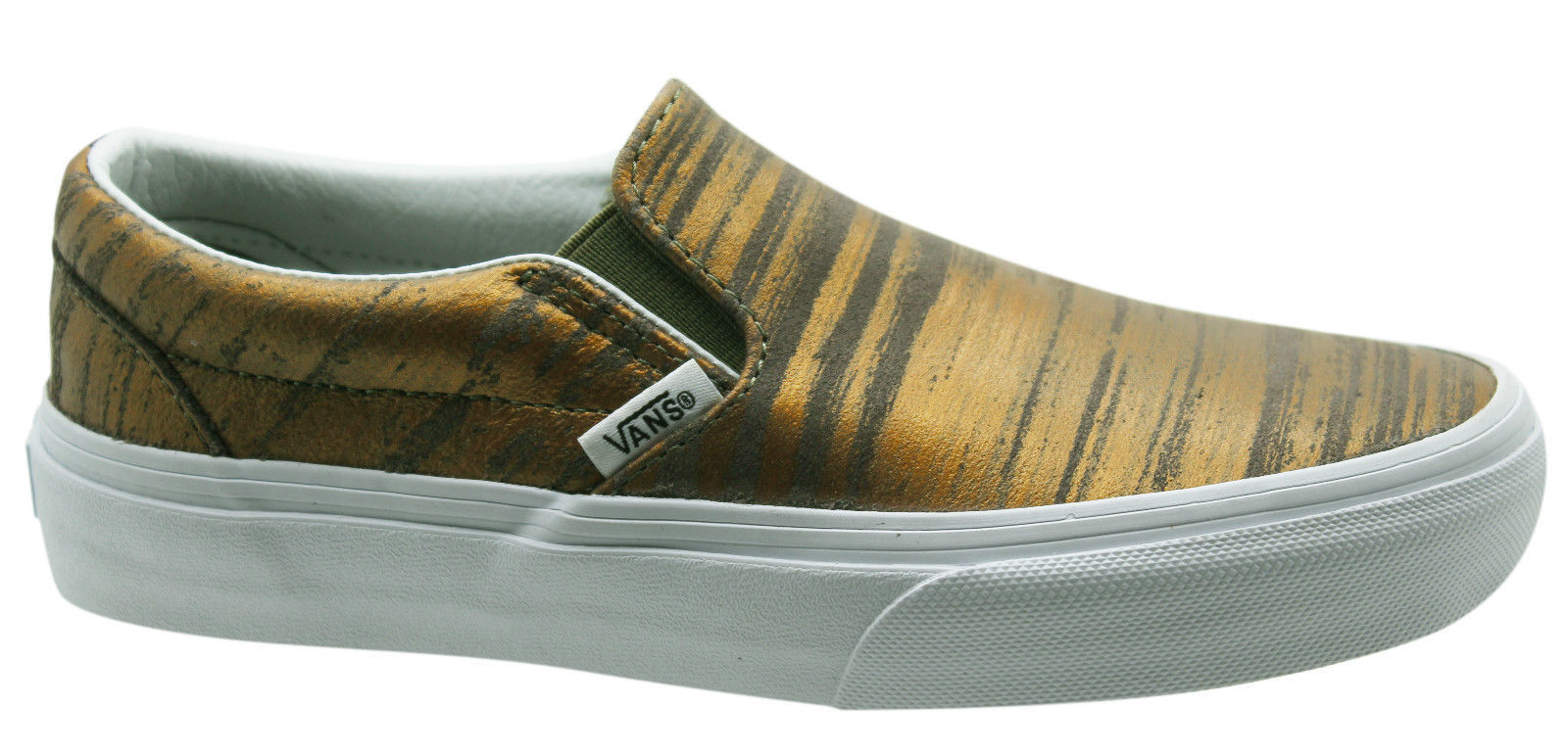 24b98ebba2 Details about Vans Classic Slip On Brushed Metallic Gold Mens Trainers Shoes  3DVHXW D37
