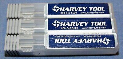 Harvey Tool Carbide End Mills .093 332 X .500 Loc 7 Flute 3 Pcs Lot