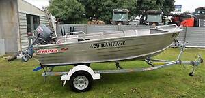 STACER 429 RAMPAGE ALUMINIUM BOAT .30 HP YAMAHA,TRAILER....AS NEW Rokewood Golden Plains Preview
