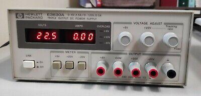 Hp E3630a 0-6v 2.5a0 - 20v 0.5a Triple Output Dc Power Supply