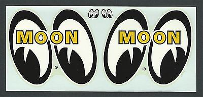"""VINTAGE ORIGINAL 1960'S GENUINE """"MOONEYES"""" HOT ROD WATER SLIDE DECALS DEAN MOON"""