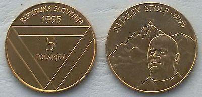 Slowenien / Slovenia 5 Tolarjev 1995 p26 unz.