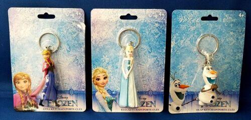 Disney Frozen KEY CHAIN Toy SET of 3 - Princess Anna & Elsa plus Olaf Snowman
