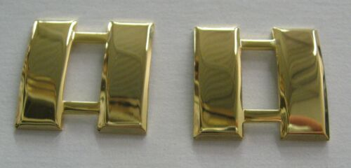 Captain Bars, Smaller Insignia pin,Gold Plated ,Pair
