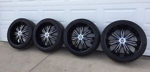 24 inch Dubs on Pirelli Tires