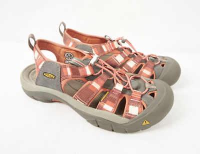 KEEN Newport H2 Henna Red Hot Coral Sport Sandal Beach Water Shoes Women 10  ()