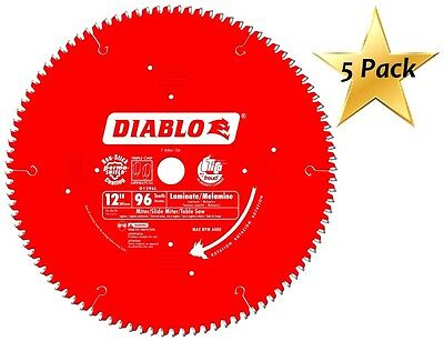 5 Pack Freud D1296l Diablo Melamine Laminate Flooring And Wood Saw Blade