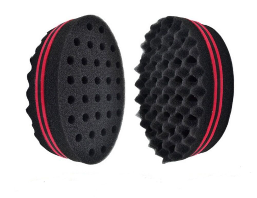 Double Side Barber Hair Brush Sponge Locking Afro Curl Twist Dreads Coil Wave Hair Care & Styling