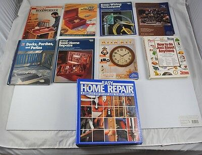 lot 9 home repair books magazines time life woodworker wiring te