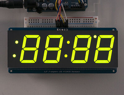 Adafruit 1.2 4-digit 7-segment Display Wi2c Backpack- Green