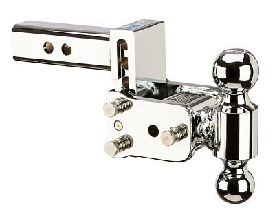 "B&W Hitch TS10033C Chrome, 2"" Shank 3"" Drop, 3.5"" Rise with 2"" & 2-5/16"" Balls for sale  USA"