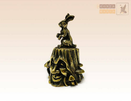 """""""Stump with Bunny"""" Souvenir Сollectable Thimble Figure Statue with Magnet"""