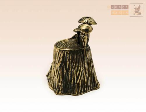 """Stump with Mushrooms"" Souvenir Сollectable Thimble Figure Statue BronZamania B1"