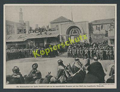 Palästinafront Kommandant Jaffa Ansprache Osmanen Reiter Orient Tel Aviv 1916