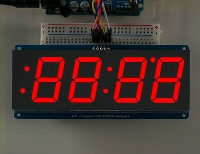 Adafruit 1.2 4-digit 7-segment Display Wi2c Backpack - Red