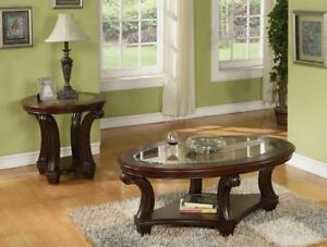 RUSTIC CHERRY COFFEE TABLE |  CLEARANCE FURNITURE OUTLET IN MISSISSAUGA | BRAMPTON (BD-326)