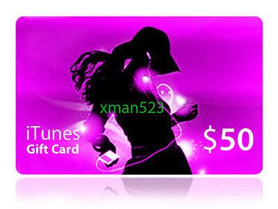 Apple $50 Us Itunes Gift Card Certificate Super Fast